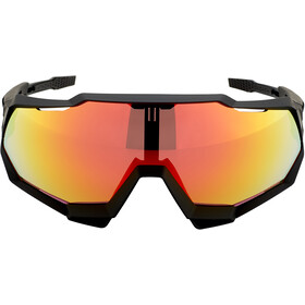 100% Speedtrap Brille soft tact black/HD red multilayer mirror/hiper